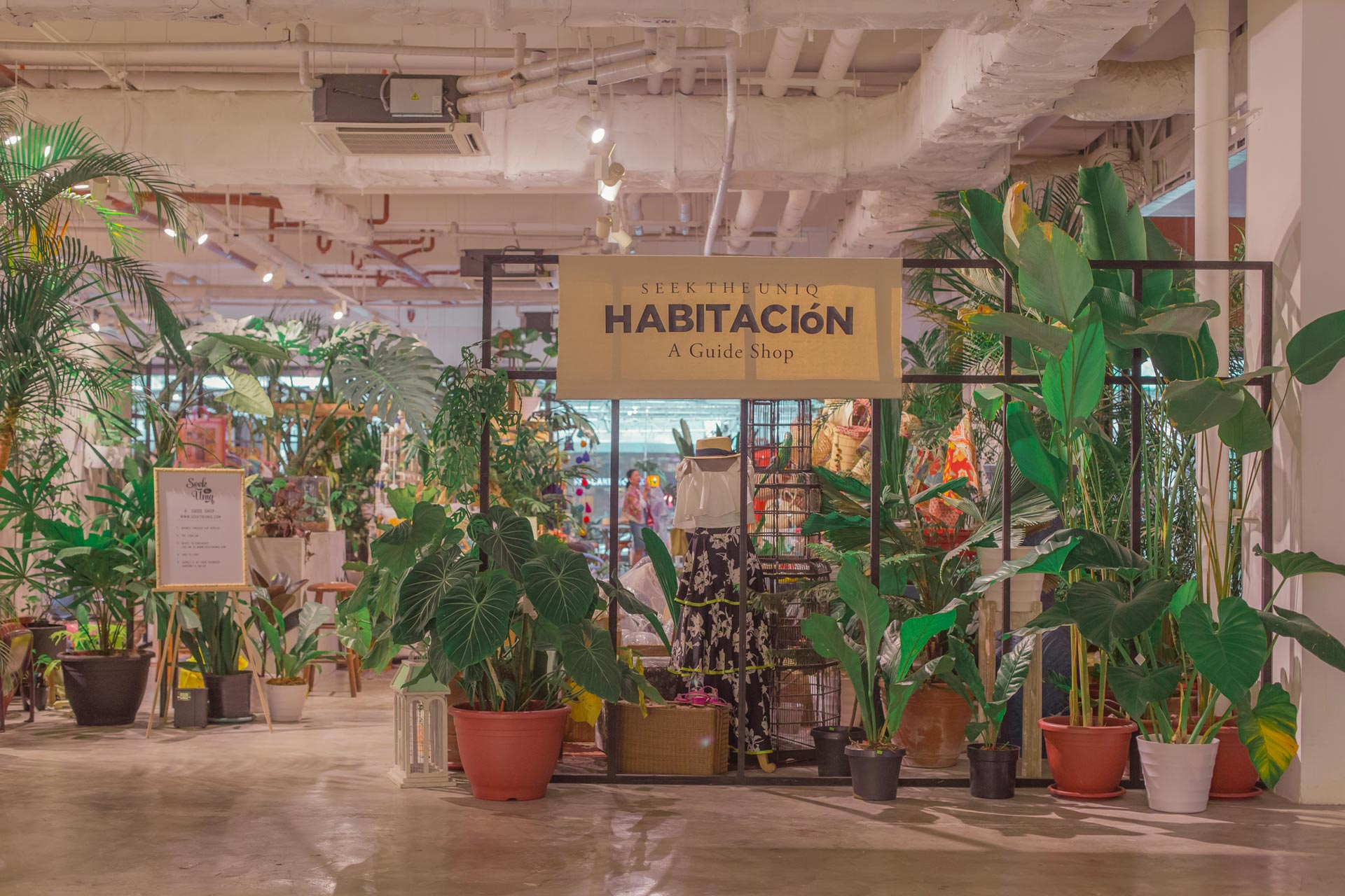 Habitación, A Guide Shop by Seek the Uniq, Powerplant Mall (Space design by Kitty Bunag of CRAFTSMITH GUILD Team)